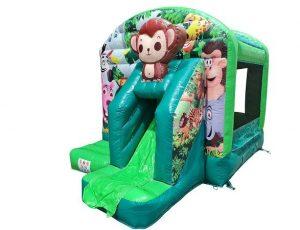 Hüpfburg kleiner Affe im Dschungel kaufen - springkussen apje kopen Hüpfburg Center Sternberg